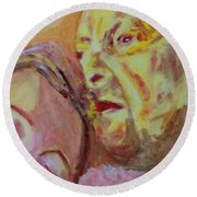 Lucian And Kate V Round Beach Towel