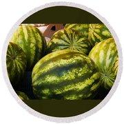 Lucious Watermelon Round Beach Towel