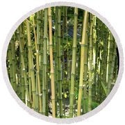Lucky Bamboo Round Beach Towel