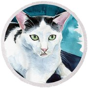 Lucky Elvis - Cat Portrait Round Beach Towel