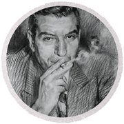 Lucky Luciano Round Beach Towel