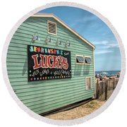 Luckys At Jenkinsons South Round Beach Towel by Kristia Adams