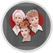 Lucy Expressions Gry Round Beach Towel