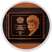 Lucy Sca Plaque  Round Beach Towel