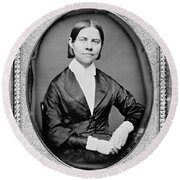 Lucy Stone, American Abolitionist Round Beach Towel