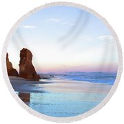 Lucy Vincent Cliffs Round Beach Towel