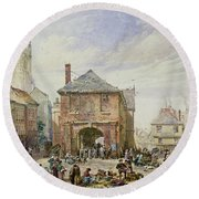 Ludlow Round Beach Towel by Louise J Rayner