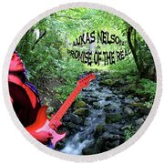 Lukas By The Creek 2 Round Beach Towel