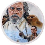 Luke And Rey Round Beach Towel