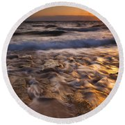 Lumaha'i Dawn Round Beach Towel by Mike  Dawson