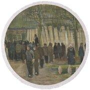 Lumber Sale Nuenen  January 1884 Vincent Van Gogh  1853  1890 Round Beach Towel