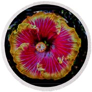 Luminous Bloom Round Beach Towel