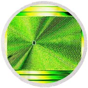Luminous Energy 14 Round Beach Towel