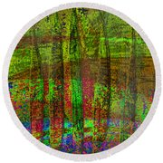 Luminous Landscape Abstract Round Beach Towel