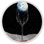 Lunar Cocktail Round Beach Towel