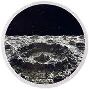Lunar Crater, 1874.  Round Beach Towel by Granger