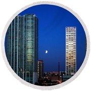 Lunar Eclipse-04apr2015-2 Round Beach Towel