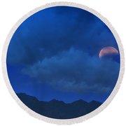 Lunar Eclipse Hide And Seek  Round Beach Towel