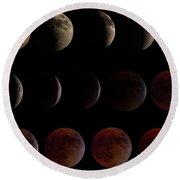 Lunar Eclipse Sequence Round Beach Towel