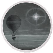 Lunar Halo And Luminescent Cross Observed During The Balloon Zenith's Long Distance Flight Round Beach Towel