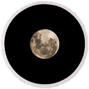 Lunar Perigee Round Beach Towel