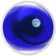 Lunarblue Round Beach Towel