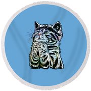 Lunch Time. Round Beach Towel