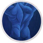 Lune Bleue Round Beach Towel