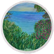 Lush Brush Round Beach Towel