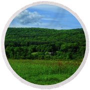 Lush Green Everything On The Ma At Round Beach Towel