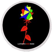 Luthers New Rose Round Beach Towel