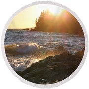 Lutsen Shore Round Beach Towel