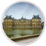 Luxembourg Palace Round Beach Towel