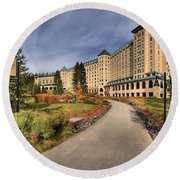 Luxury Chateau Lake Louise Round Beach Towel