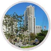 Luxury High Rise Apartments Round Beach Towel