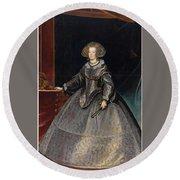 Luycks, Frans Amberes, 1604 - Viena, 1668 Maria Of Austria, Queen Of Hungary Ca. 1635 Round Beach Towel