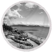 Lyme Regis And Lyme Bay, Dorset Round Beach Towel by John Edwards
