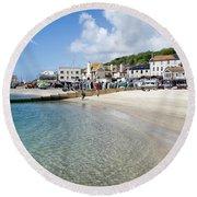 Lyme Regis Beaches - June 2015 Round Beach Towel