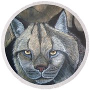 Lynx Round Beach Towel