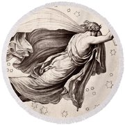 Lyre Of Orpheus Round Beach Towel