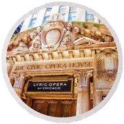 Lyric Opera Of Chicago Round Beach Towel