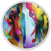 Lyrical Grouping Round Beach Towel