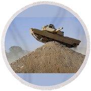 M1 Abrams Round Beach Towel