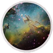 M16 The Eagle Nebula Round Beach Towel