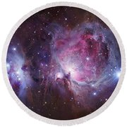 M42, The Orion Nebula Top, And Ngc Round Beach Towel by Robert Gendler
