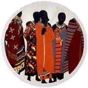 Maasai Women Round Beach Towel