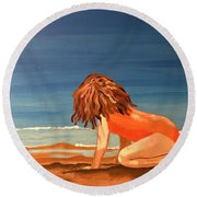 Mabel Round Beach Towel