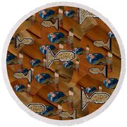 Macaroni For Dinner Round Beach Towel