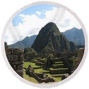 Macchu Picchu 10 Round Beach Towel