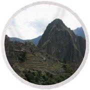 Macchu Picchu 8 Round Beach Towel